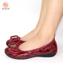 цены Women Shoes Foldable Ballet Flats Plus Size 34-44 Patent PU Leather Spring Summer Ladies Flat Shoes Fashion Loafers Shoes Woman