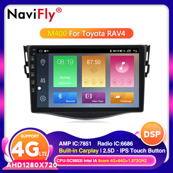 NaviFly For Toyota RAV4 3 XA30 2005-2013 Car Multimedia Player Gps Radio Navigation Android 10.0 HD IPS 2.5D 4G LTE Carplay image