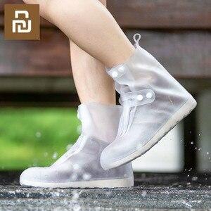 Image 1 - Zaofeng Juego de Botas de lluvia antideslizantes, portátiles, de tubo alto, impermeables, antideslizantes, resistentes al desgaste, costuras sin costuras