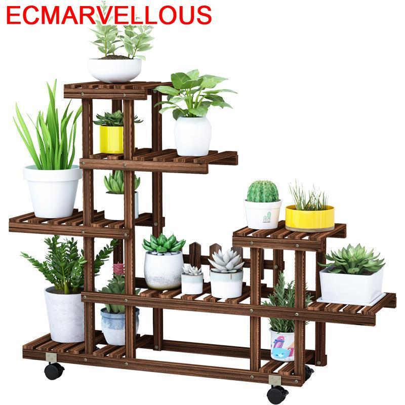 Etagere Plante Estanteria Jardin Huerto Urbano Madera Pot Table Outdoor Dekoration Flower Shelf Stojak Na Kwiaty Plant Stand