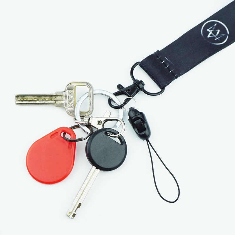 Веревочные брелоки для мобильного телефона, черный ремешок для телефона