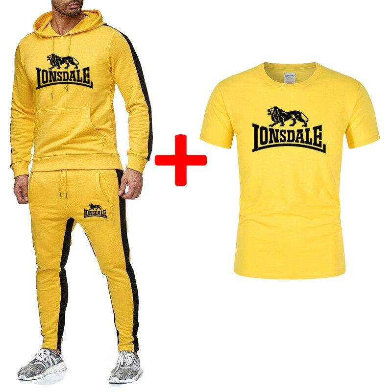New Men And Women Sportswear Fashion Hoodies Men's Casual Sportswear 3 Piece T-shirt   Hoodie   Pants Sports Suit Male 2020
