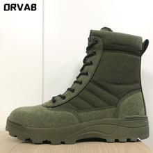 Plus rozmiar 36-46 buty wojskowe skórzane buty wojskowe dla mężczyzn i kobiet buty taktyczne piechoty buty wojskowe czarne zielone buty wojskowe tanie tanio ORVAB Pracy i bezpieczeństwa CN (pochodzenie) Prawdziwej skóry Skóra bydlęca ANKLE Stałe Cotton Fabric Mesh (air mesh)