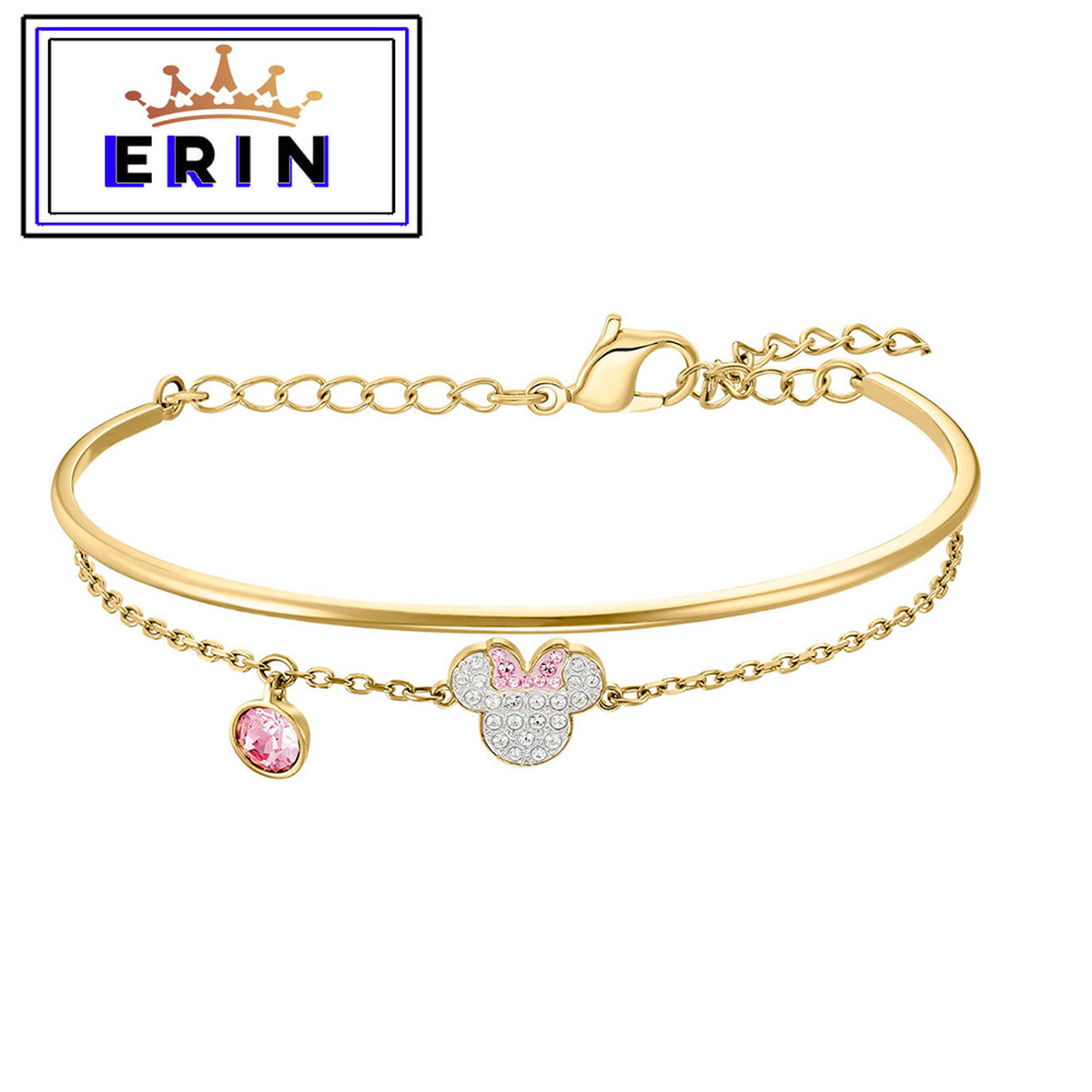 ERIN  High quality SWA, new classic mouse crystal suit Necklace women's Bracelet
