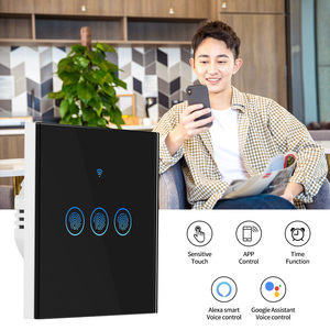 Image 2 - Interruptor de luz inteligente interruptor de parede sem fio interruptor de controle toque wifi compatível com alexa google assistente ifttt para android