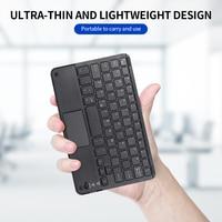 Senza fili BT 3.0 Tastiera 59 Tasti Ultra-sottile Mini Tastiera BT Touch Pad di Sostegno del Android Finestre iOS per il Computer Portatile telefono Tablet