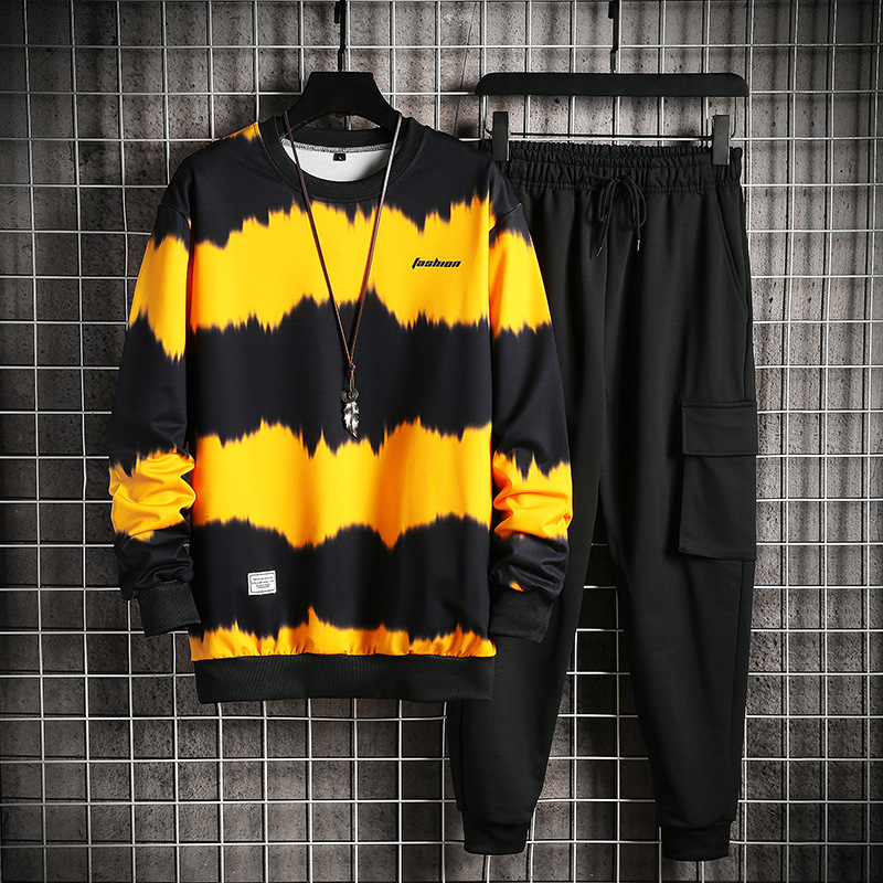 2020 herren Sets Lässige Sportswear Trainingsanzüge Sets Neue Männer Sporting Hoodies + Hosen Sets Outwear Männliche Mit Kapuze Sport Anzüge patchwork