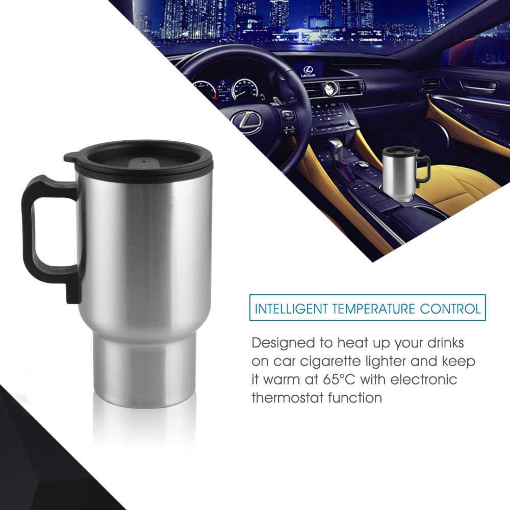 車の真空カップポータブル電気旅行暖房カップコーヒー茶沸騰マグケトル自動車の付属品車のやかん耐久性のある 12V 450 ミリリットル