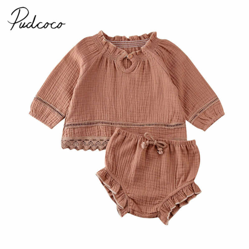 2020 Baby Spring Autumn Clothing Toddler Baby Girl Long Sleeve Tops T-shirt Ruffle Shorts Pants Clothes Tracksuit