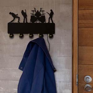 Image 5 - Rock band ganchos de parede luminosos led, decoração doméstica, banda de música, multicolor, casaco, chaveiro, presente para troca singer idol