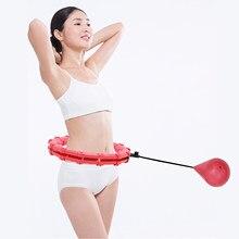 Умное Спортивное обруч для фитнеса, регулируемое кольцо с тонкой талией для упражнений в тренажерном зале, фитнес-оборудование, легкая Тали...