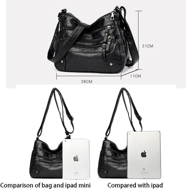 High Quality Women's Soft Leather Shoulder Bags Multi-Layer Classic Crossbody Bag Luxury Designer Handbag and Purse 5