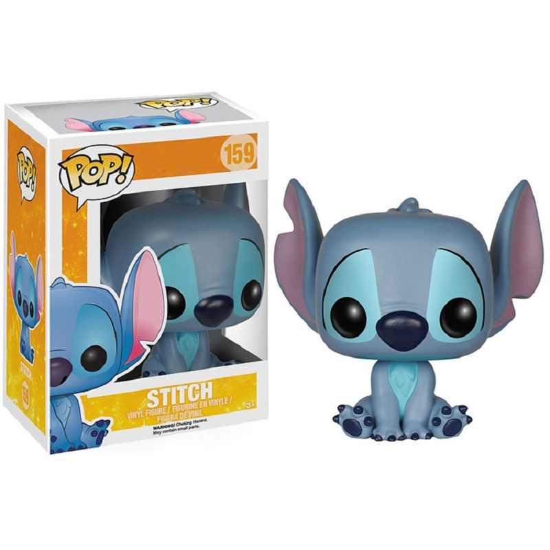 Funko pop lilo & stitch 비닐 인형 액션 피규어 귀여운 스티치 팝 키 체인 컬렉션 모델 어린이를위한 장난감 생일 선물