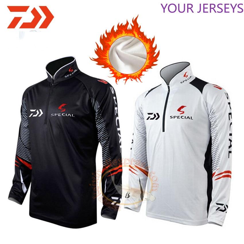 2020 DAIWA Fishing Clothes Men Long Sleeve Winter Warm Cycling  Clothing Outdoor Breathable Quick Dry  Jackets Hiking Data Dawa