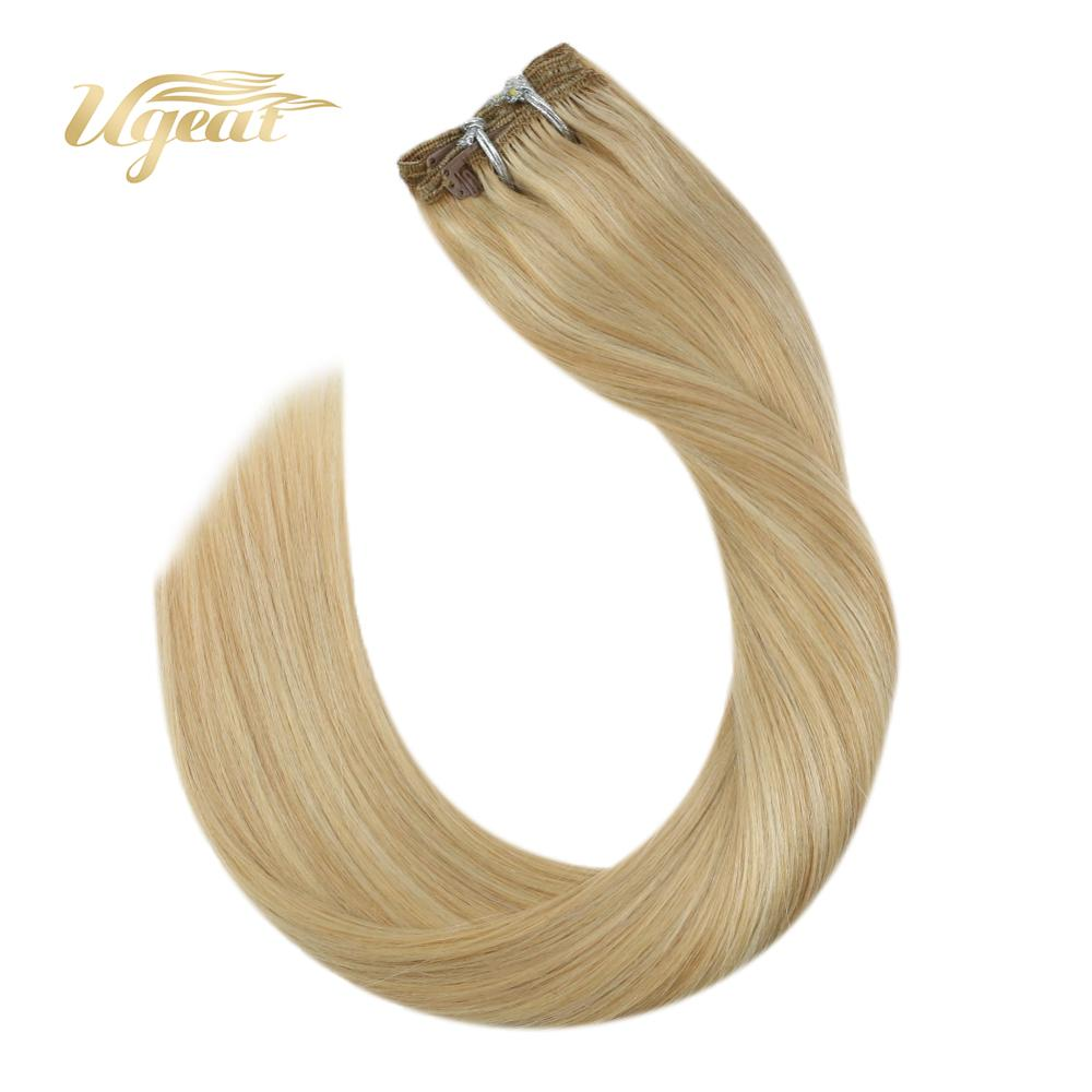 Ugeat Clip In Hair Extensions Full Head Set Thick Hair 14-24