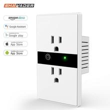 WiFi Smart Elektrische Steckdose UNS Drahtlose Stecker Outlets Touch Panel Control Lichter Haushaltsgeräte Arbeit mit Alexa Google