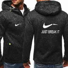 Men Hoodies Sweatershirt Autumn Zipper Solid Printed Cardigan Causal Fleece Streetwear Sport Outerwear Hoodie Jacket Coat