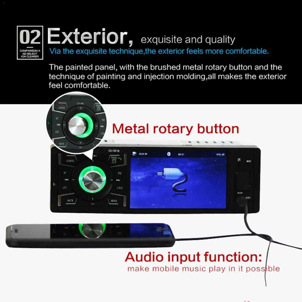 4 1 quot 1 Din Multimedia Player Car Radio Audio Stereo FM Radio Bluetooth MP5 Player Can Be Connected To The Rear View Camera in Car MP3 Players from Automobiles amp Motorcycles