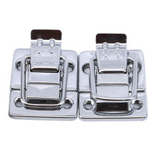 Aço inoxidável chrome toggle trava para caixa de peito caso mala ferramenta fecho do gabinete montagem cinto bloqueio ferrolho fivela