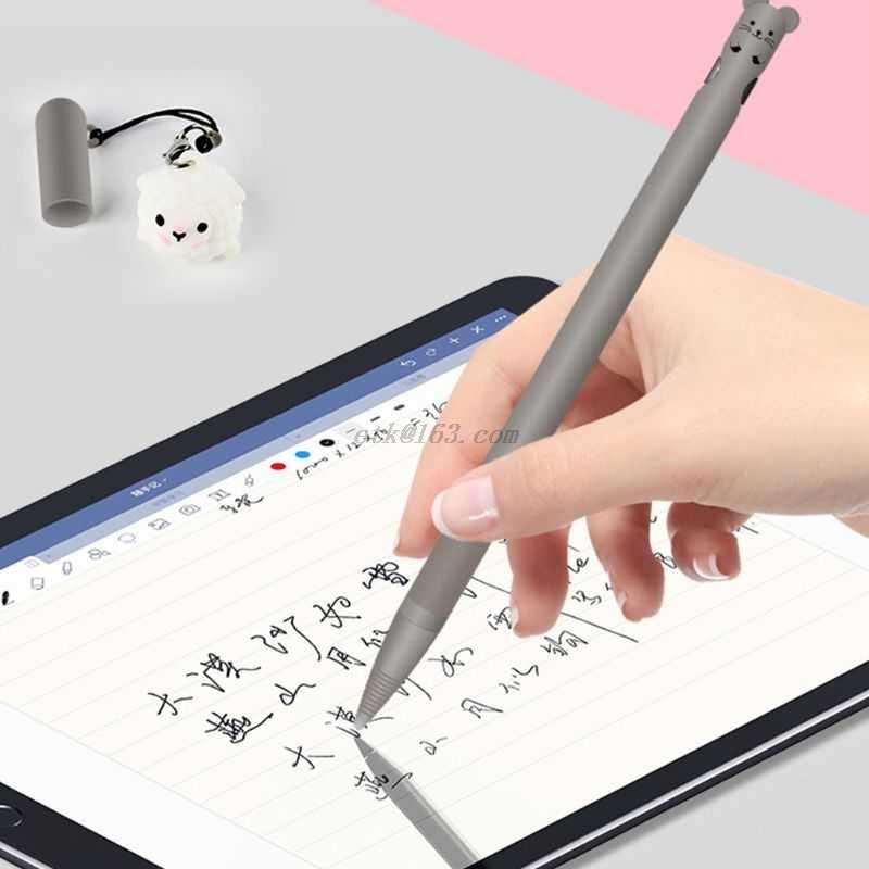 ลายสัตว์น่ารักAnti-Scratchซิลิโคนป้องกันฝาครอบกรณีผิวสำหรับAppleดินสอ 1 สำหรับiPadดินสอ 1st Acc