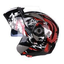Casque intégral de moto, casque authentique 105, visière à double objectif, Scooter, Motocross, moto, Cruiser, Touring Chopper pour hommes
