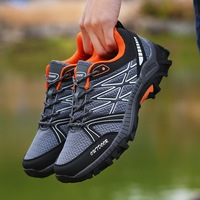Men Hiking Shoes Lace Up Sports Shoes Male Outdoor Jogging Trekking Sneakers Non Slip Wear Resistant Travel Shoes Comfortable