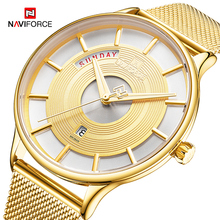 NAVIFORCE Gold Mens Watch Top Luxury Brand Business Quartz Watches Waterproof Clock Male Ultra-thin Wristwatch Relogio Masculino