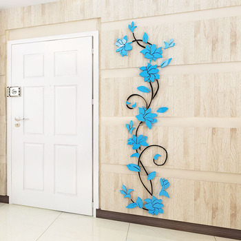 3D DIY Vase Flower Tree Removable Art Vinyl Wall Stickers Decal Mural Home Decor For Home Bedroom Decoration Hot Sale 10