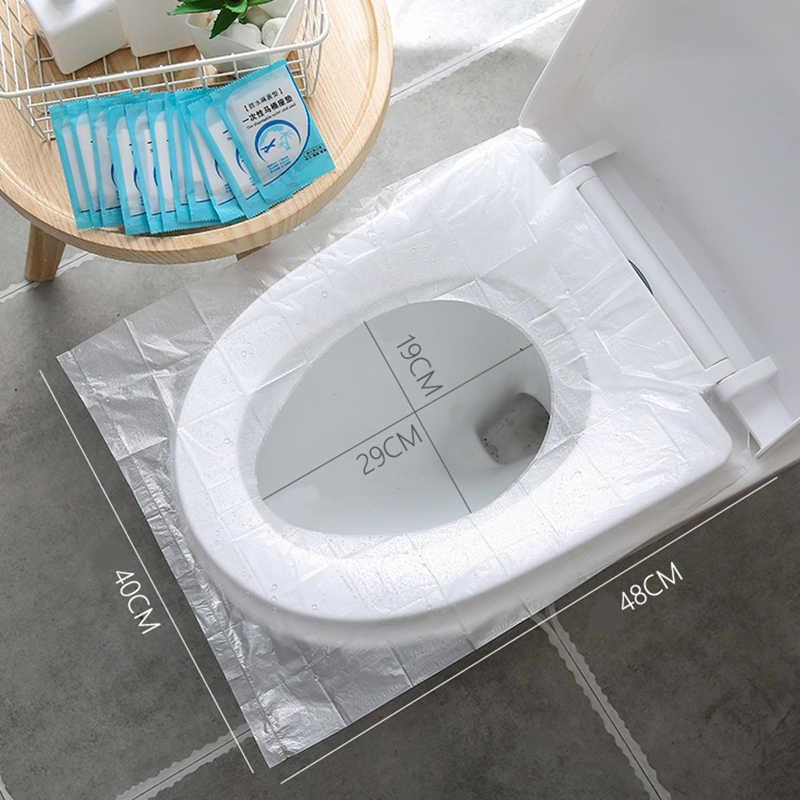 50 قطع المرحاض ورقة حقيبة حصيرة غطاء مقعد حمام قابل للإستخدام لمرة واحدة فقط حصيرة صديقة للبيئة السفر أداة المحمولة اكسسوارات الحمام