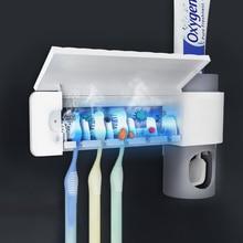 Toothpaste-Squeezers-Dispenser Uv-Toothbrush-Holder Bathroom-Accessories-Sets Sterilizer