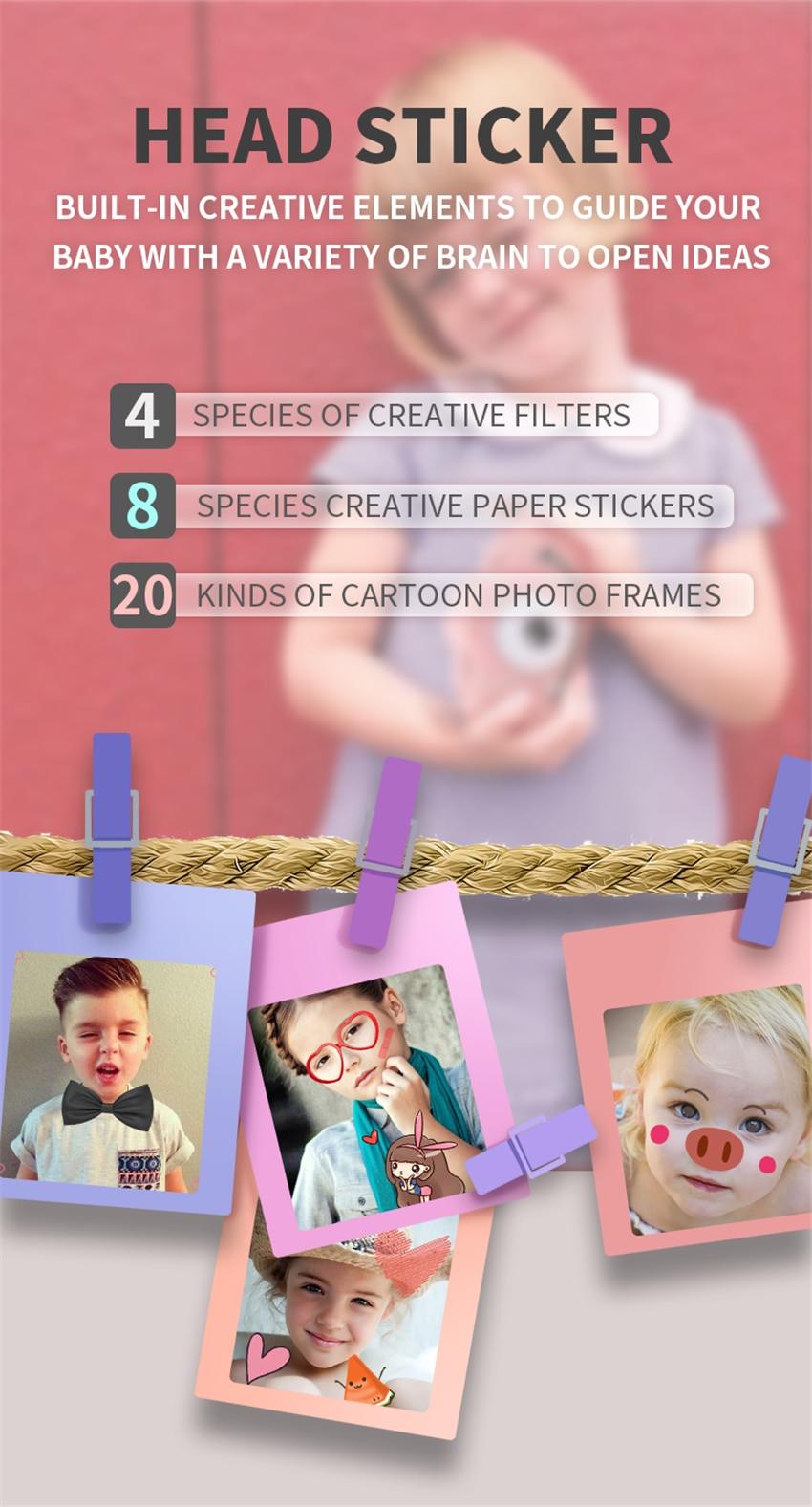 H5d432c9fb9684669a75bbc57beef9455B x8 2.0 inch Screen Kids Camera Mini Digital 12MP Photo Children Camera with 600 mAh Polymer Lithium Battery Toys Gift