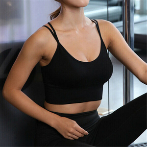 Women Crop Top New Fitness Stretch Tank Top Seamless Solid Color Ladies Tops Padded Bra Casual Women Tops Summer Clothing