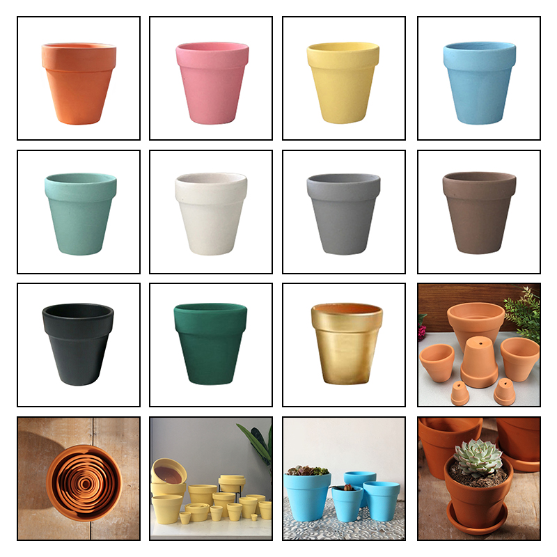 11 Colors Small Mini Terracotta Pot Clay Ceramic Pottery Planter Cactus Flower Pots Succulent Nursery Pots Great Garden Decor