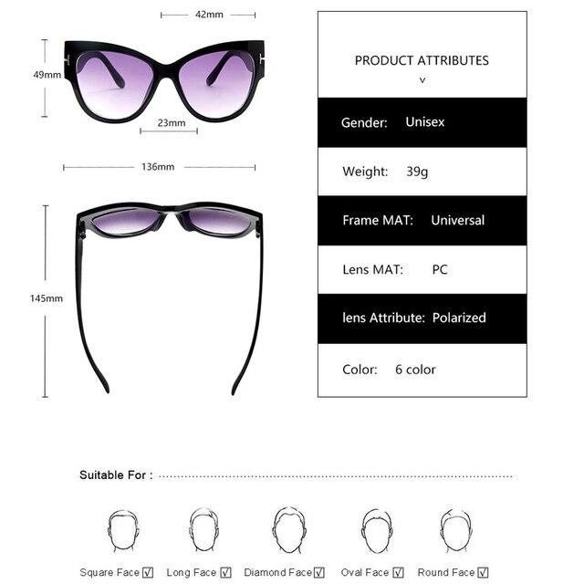 2019 New Brand Sunglasses Women Luxury Designer T Fashion Black Cat Eye oversized Sunglasses Female Gradient Sun Glasses oculos 10