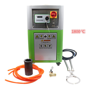 Metal melting furnace Medium frequency melting furnace Gold, silver and copper small experimental melting machine Iron and steel 220v 2kg gold copper silver aluminum iron steel mini goldsmith melting furnace mini gold melting furnace gold melting stove joy