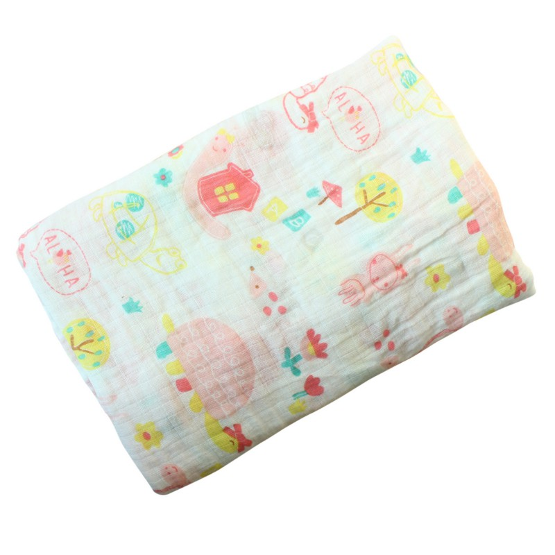hilittlekids Infant Baby Cartoon Swaddling 120x120cm Blanketborn Infant Warm Cotton Swaddle Towel in Blanket Swaddling from Mother Kids