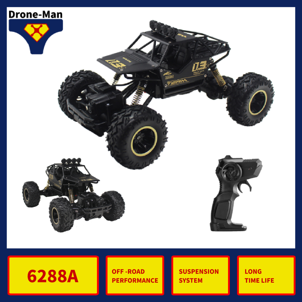6288A 1/16 RC Car 4WD Alloy Body Shell Rock Crawler Buggy Drift Monster Truck OFF-ROAD Bigfoot Climbing Vehicle Toys Kid Gift