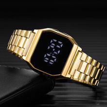 Orologi sportivi da uomo orologi elettronici digitali a LED cinturino in acciaio inossidabile orologio da polso militare militare impermeabile reloj hombre