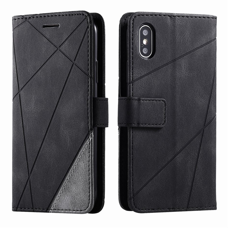 3 Card Slot <font><b>Flip</b></font> Business <font><b>Case</b></font> For Huawei Nova 3e Nova 5i Pro <font><b>Honor</b></font> <font><b>9</b></font> <font><b>Lite</b></font> 10 <font><b>Lite</b></font> Mate 30 20 <font><b>Lite</b></font> Rhombus Leather Wallet DP21G image