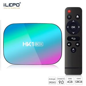 Image 1 - HK1 kutusu 8K 4GB 128GB TV kutusu Amlogic S905X3 akıllı TV kutusu Android 9.0 1000M çift Wifi 1080P 4K Set Top Box HK1 kutusu medya oynatıcı