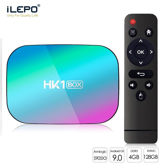 HK1 kutusu 8K 4GB 128GB TV kutusu Amlogic S905X3 akıllı TV kutusu Android 9.0 1000M çift Wifi 1080P 4K Set Top Box HK1 kutusu medya oynatıcı