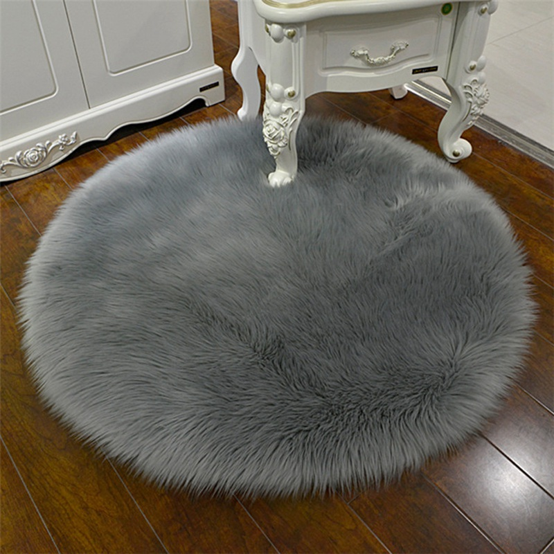 30*30CM Soft Artificial Sheepskin Rug Chair Cover Bedroom Mat Artificial Wool Warm Hairy Carpet Seat Textil Fur Area Rugs