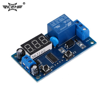 цена на ACEHE Electrical DC 12V Time Relay Module Digital Display Trigger Cycle Time Delay Relay Module Board YYA-3 Hot