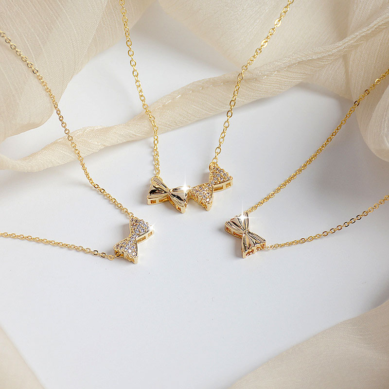 Ins Hot Sale Cute Tiny Exquisite Micro Inlaid CZ Beans Women Necklace Bling Zirconia Creative Stylish Collar Kolye Jewelry Gift