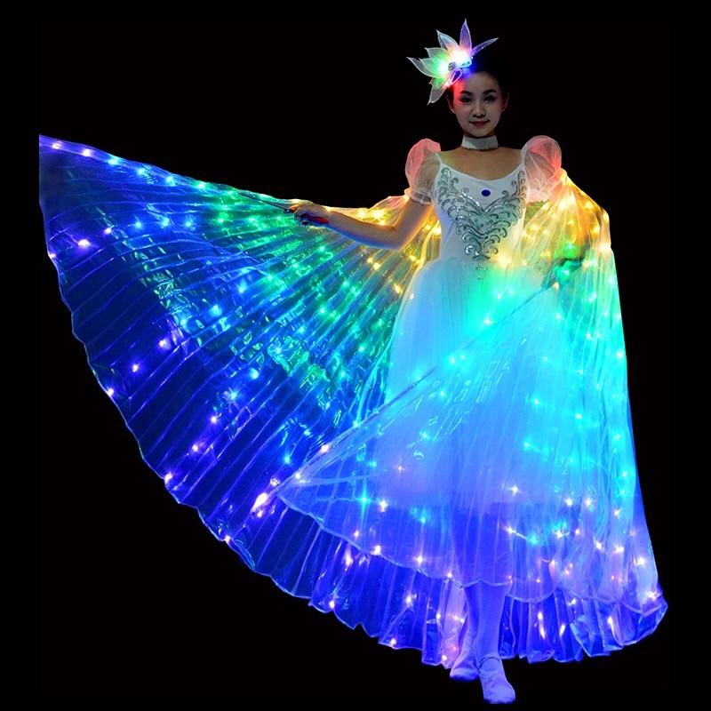 LED ailes de danse papillon lueur danse halloween couleur fluorescente spectacle noël ailes de danse du ventre