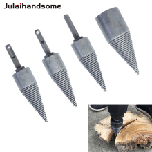 Firewood Drill Bit  Chop Wood Splitting Tool Cone Log Splitters Breaking Machine Breaker Chopper