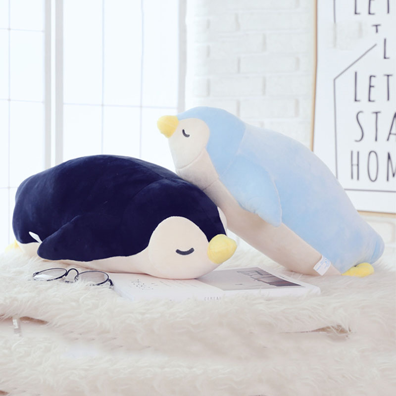 Plush Stuffed Toys For Kids 35cm Soft Pillow Cute Tummy Penguin Doll Baby Girls Toy Cushion Birthday Gift