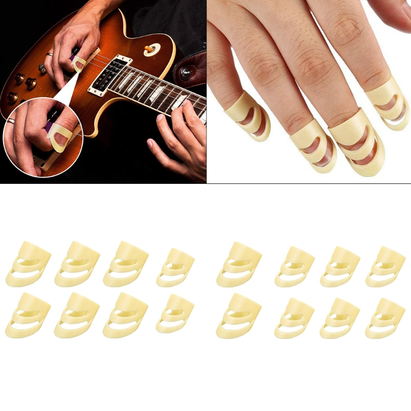 2021 Top 8pcs Alaska Guitar Picks Adjustable Finger Picks Medium and Large Alaska Picks