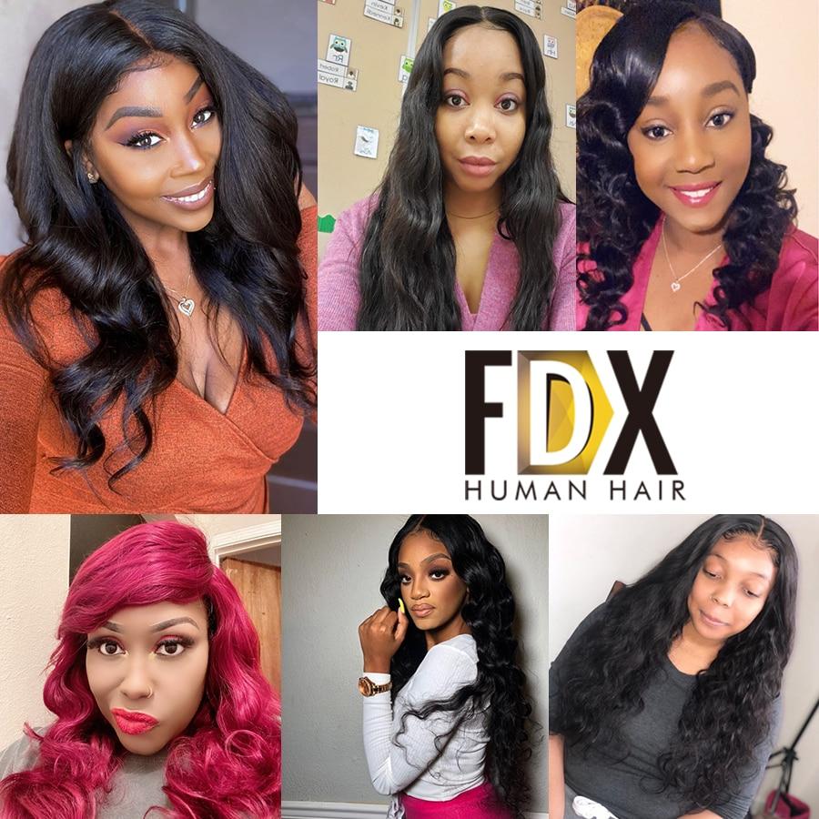FDX Body Wave Bundles 30 32 34 36 38 40 Inch Bundles 100% Human Hair Bundles Top Quality Brazilian Hair Weave Bundles Remy Hair 6
