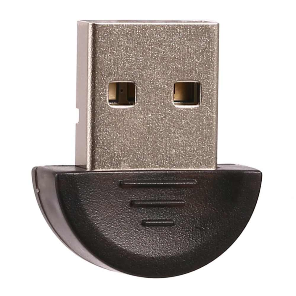 Mini USB Bluetooth Adapter Wireless USB Dongle V2.0 untuk Laptop PC Win 7/8/10/XP